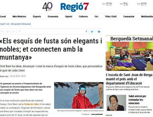 Interview on Catalan newspaper, Regió7