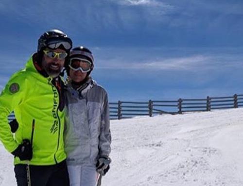 """Gisela i Toni: """"Amb Liken hem pogut ajuntar les nostres dues passions: els gossos i l'esquí""""."""